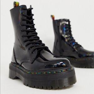 🆕NWT Dr. Martens Rainbow Jadon 10 eye boot